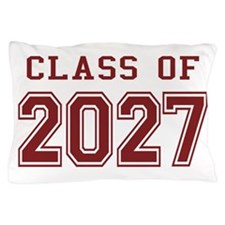Class of 2027 (Red) Pillow Case