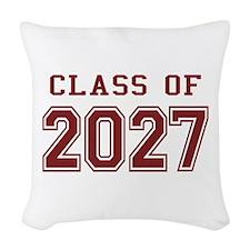 Class of 2027 (Red) Woven Throw Pillow