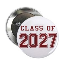 "Class of 2027 (Red) 2.25"" Button"