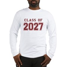 Class of 2027 (Red) Long Sleeve T-Shirt