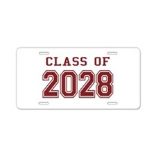 Class of 2028 (Red) Aluminum License Plate