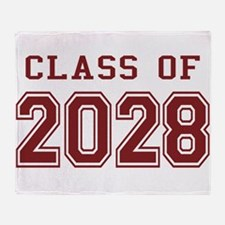Class of 2028 (Red) Throw Blanket