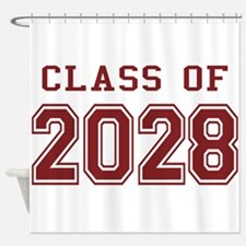 Class of 2028 (Red) Shower Curtain