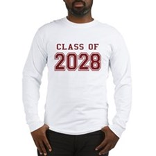 Class of 2028 (Red) Long Sleeve T-Shirt