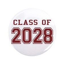 """Class of 2028 (Red) 3.5"""" Button"""