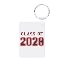 Class of 2028 (Red) Aluminum Photo Keychain