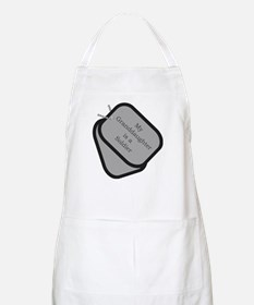 My Granddaughter is a Soldier dog tag BBQ Apron
