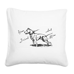 Your Friend And Mine Pit Bull Logo Square Canvas P