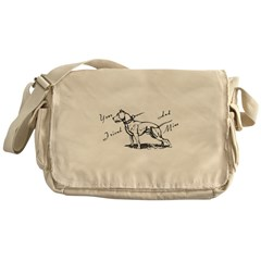Your Friend And Mine Pit Bull Logo Messenger Bag