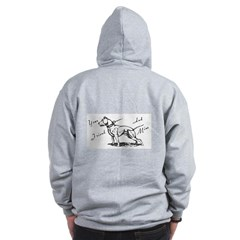 Your Friend And Mine Pit Bull Logo Zip Hoodie