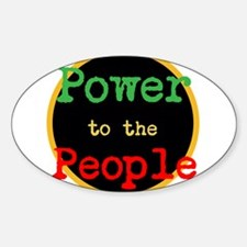 Power to the People Sticker (Oval)
