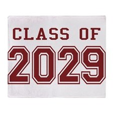 Class of 2029 (Red) Throw Blanket