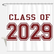 Class of 2029 (Red) Shower Curtain