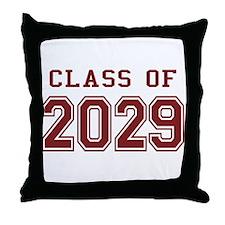 Class of 2029 (Red) Throw Pillow