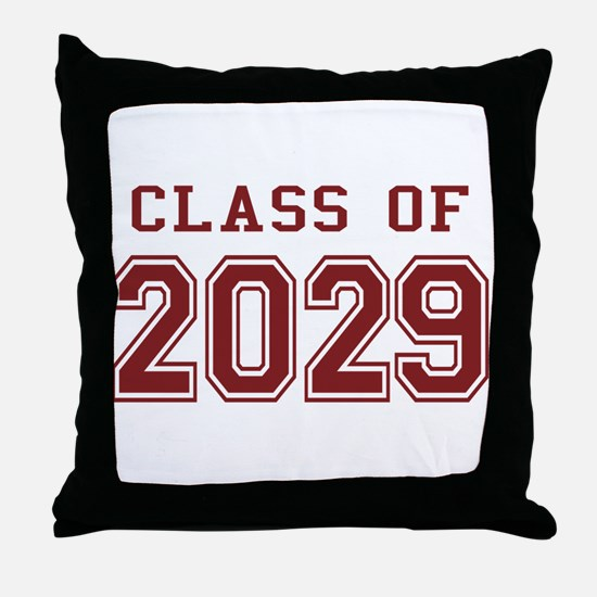Class of 2029 (Red) Throw Pillow