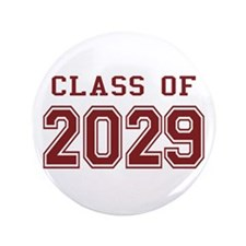 "Class of 2029 (Red) 3.5"" Button"