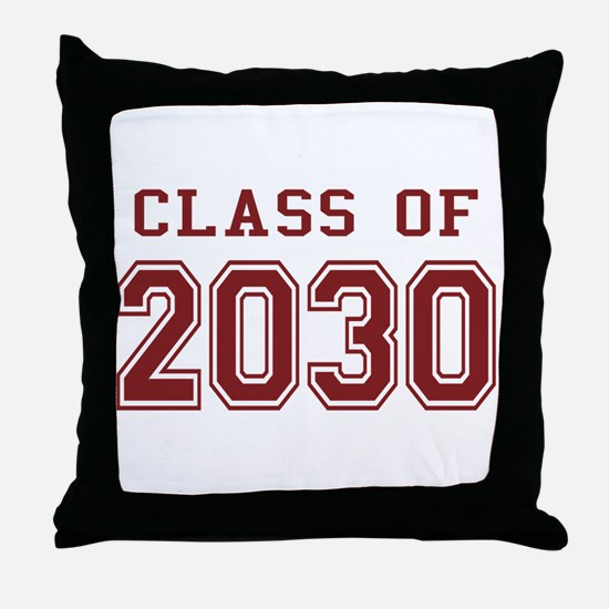 Class of 2030 (Red) Throw Pillow