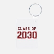 Class of 2030 (Red) Aluminum Photo Keychain