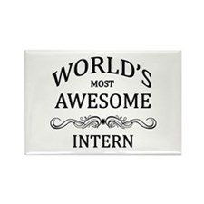 World's Most Awesome Intern Rectangle Magnet