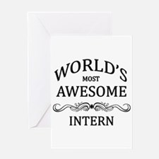 World's Most Awesome Intern Greeting Card