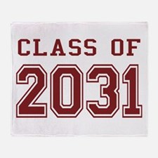 Class of 2031 (Red) Throw Blanket