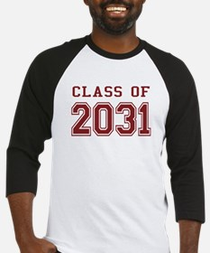 Class of 2031 (Red) Baseball Jersey