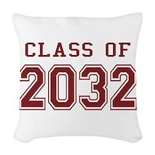 Class of 2032 Woven Throw Pillow