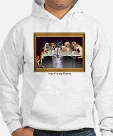 Dogs Playing Flipcup Hoodie