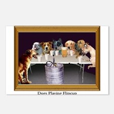 Dogs Playing Flipcup Postcards (Package of 8)