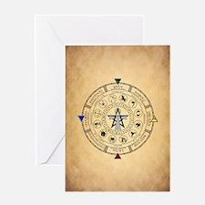 Wheel of the Year Zodiac Sabbats Greeting Cards