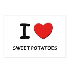 I love sweet potatoes Postcards (Package of 8)