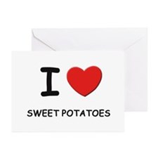 I love sweet potatoes Greeting Cards (Pk of 10