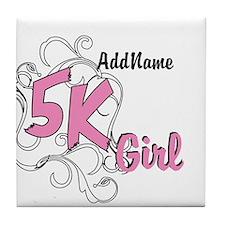 Customize 5k Girl Tile Coaster