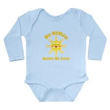 My Memaw Makes Me Laugh Long Sleeve Infant Bodysui