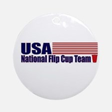 USA National Flip Cup Team Ornament (Round)