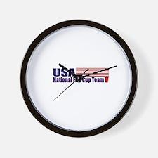 USA National Flip Cup Team Wall Clock