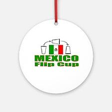 Mexico Flip Cup Ornament (Round)