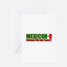Mexico National Flip Cup Team Greeting Cards (Pack