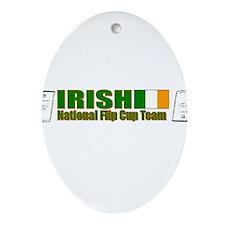 Irish National Flip Cup Team Oval Ornament