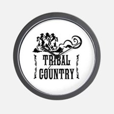 Tribal Country Wall Clock
