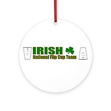 Irish National Flip Cup Team Ornament (Round)