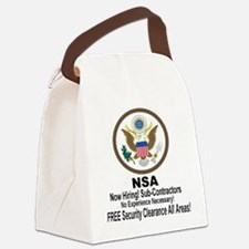 NSA Now Hiring Sub-Contractors Canvas Lunch Bag