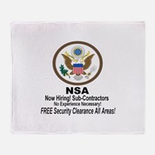 NSA Now Hiring Sub-Contractors Throw Blanket