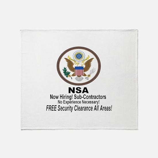 NSA Now Hiring Sub-Contractors Throw Blanket