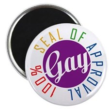 """Gay Seal of Approval 2.25"""" Magnet (10 pack)"""