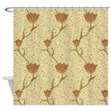 Morris garden tulip Shower Curtains
