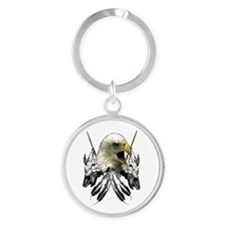 Buffalo Skull Eagle Round Keychain