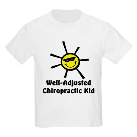 Well-Adjusted Chiro Kid Kids Light T-Shirt