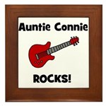 Auntie (Aunt) Connie Rocks Framed Tile