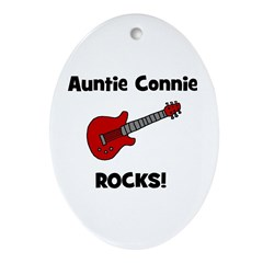 Auntie (Aunt) Connie Rocks Oval Ornament